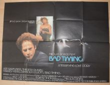 Bad Timing (1980) Art Garfunkel, Theresa Russell Film Poster - UK Quad